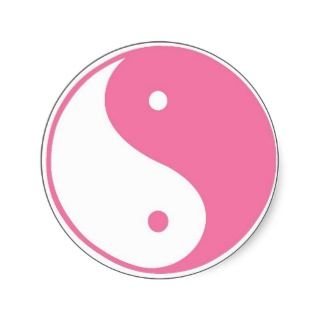 Cute Pink Yin Yang Sticker