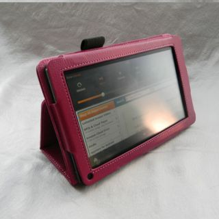 Kindle Fire PU Leather Case Cover Car Charger USB Cable Protector