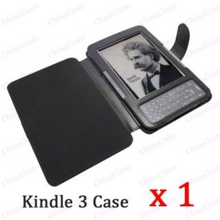 Kindle 3G WiFi 3 Leather Case Screen Protector