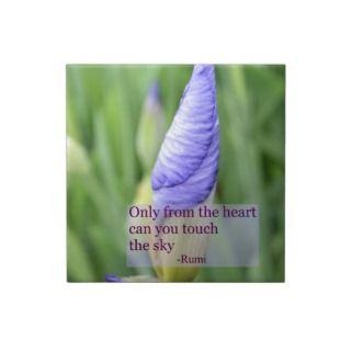 Iris Inspirational Rumi Quote Ceramic Tile