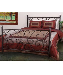 King Size Metal Traditional Poster Bed Frame Bedroom Decor Furniture