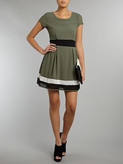 Wal G Fit and flare dress Khaki