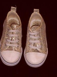 Koala Kids Infant Child Kid Girl 7 Silver Glitter Sneakers