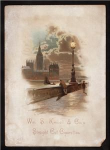 Kimball Cigarettes Advertising Victorian Trade Card