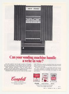 1968 Campbell Soup Vending Machine Trade Print Ad