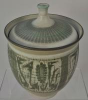 Gerry Williams Mid Century Modern Art Pottery Large Covered Jar After