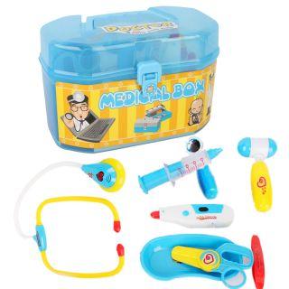 Childs Kids Medical Kit Doctors Nurses Case Fun Role Play Dress Up Set