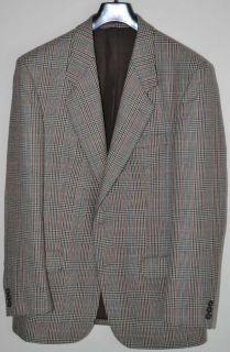 Mint Men English Tartan Plaid Wool Blazer Sports Jacket Single