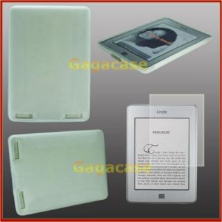 Clear  Kindle Touch (3G WiFi) TPU Gel Case Skin Cover + Screen