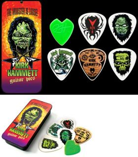Guitar Pick Collection With Tin Kirk Hammett Dunlop Licensed New