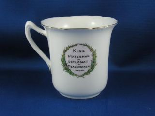 RARE King Edward VII Memoriam Mug Foley Wileman Co