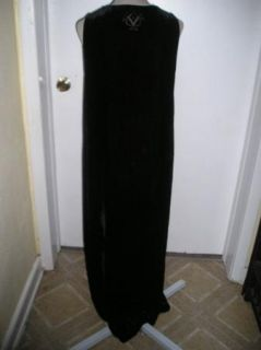 Kiko Black Velvet Burnout Layering Lagenlook Tank Dress Sz s Devoree