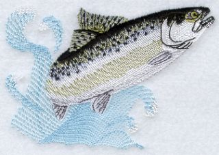 Chinook King Salmon Fish Fishing 2 Embroidered Hand Towels by Susan