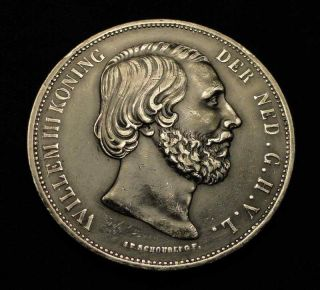 Silver Coin One 1870 2 1 2 Gulden with King William III Koning