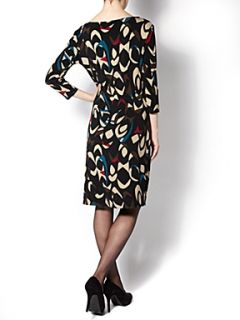 The Department Ladies twist front print dress Multi Coloured