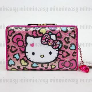 Hello Kitty Sparkling Crystal Kiss Clasp Kiss Lock Pocket Coins Bag