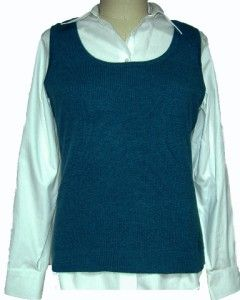 100% CASHMERE Kinross Womens Sleeveless Sweater Vest Tank Top Scoop