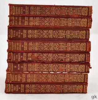 Vintage Rudyard Kipling Books Red Leather Bound