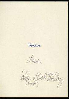 Kim Novak Vintage 1981 Original Signed Handwritten Christmas Card Xmas