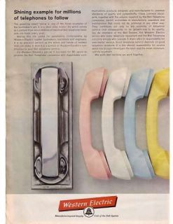 1963 Western Electric Bell Telephone Steel Master Die Ad