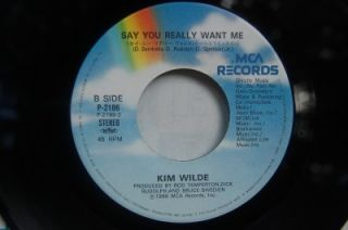 45ps Japan Import Kim Wilde Say You Really Want Me You Keep Me Hangin