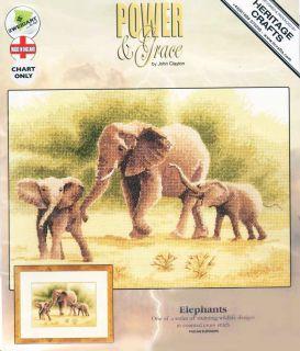 Heritage John Clayton Counted Cross Stitch Chart Pattern Elephants 646