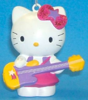 Hello Kitty Rock Star Christmas Ornament New Cat Holiday Decoration