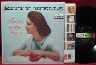 Kitty Wells Seasons of My Heart LP Vinyl Record Album