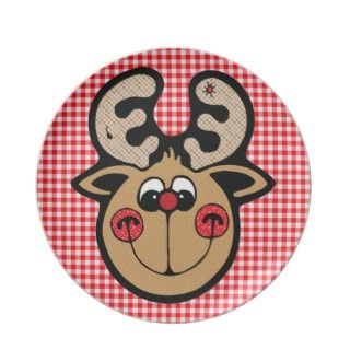 rudolph red nose reindeer plate