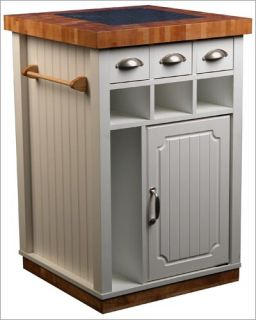 mobile kitchen island w trash can bag storage cabinet