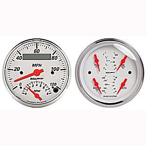 Autometer 1309 Tach Speedometer Quad Gauge Kit