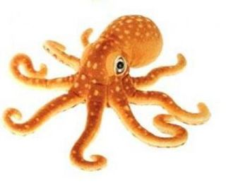 Fiesta Toys Plush 13 5 Orange Spotted Octopus New