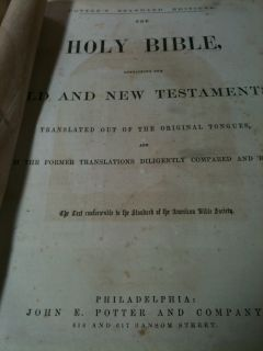 Bible Unmarked Leather Apocrypha Psalms in Metre King James