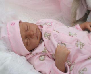 Sweet Reborn Baby Girl Doll Baby 1 of Triplets by Lisa Farmer Lovern