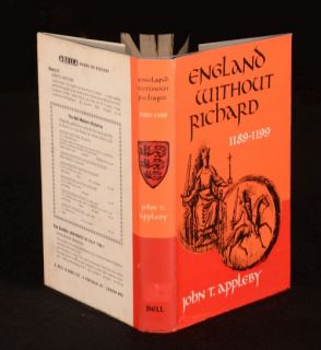1965 England Without Richard John Appleby Richard The Lionheart
