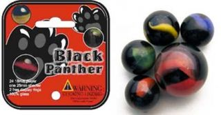 Marble 24 Collectible Marbles 1 Shooter Net Bag Black Panther