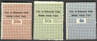 Oregon Klamath Falls Beer Tax Stamps Three Different
