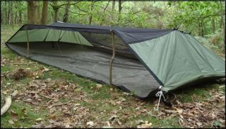 TW Hammocks Hornet Camping Bushcraft Green Hammock Double Zip Version