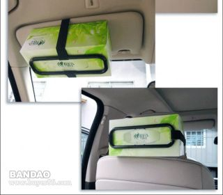 Car Sun Visor Tissue Paper Box Holder Auto Seat Back Accessories Hold