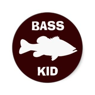 Largemouth Bass Fishing template Stickers