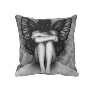 Sad Butterfly Girl Pillow