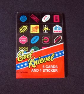 1974 Evel Knievel Cello Sticker Pack