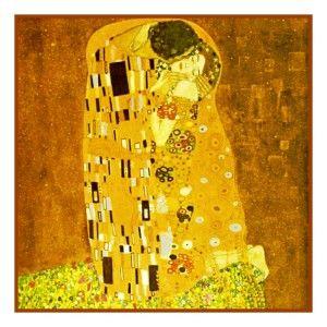 Symbolist Gustav Klimt The Kiss Counted Cross Stitch Chart