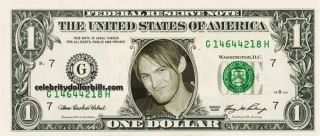 Red Hot Chili Peppers Set 5 Celebrity Dollar Bill Uncirculated Mint US