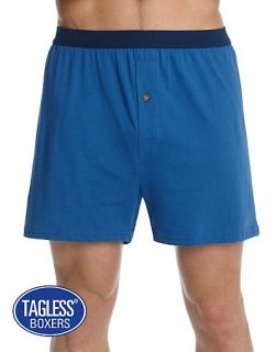 Hanes Mens Tagless® Knit Boxers with Comfortsoft® Waistband 3 Pack