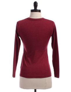 Urban Renewal by Urban Outfitters Solid Knit Top Sz s Red Shirt