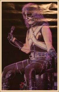 Kiss Original Peter Criss 1977 Love Gun Aucoin Poster