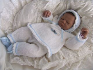 Baby or Reborn Doll Knitting Pattern Faith Set Angel Top Trousers