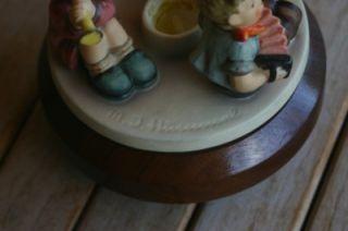 Hummel Little Band Candlestick on Music Box