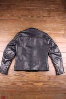 Vtg Harley Davidson 60s Steerhide Leather Cafe Racer Motorcycle Biker
